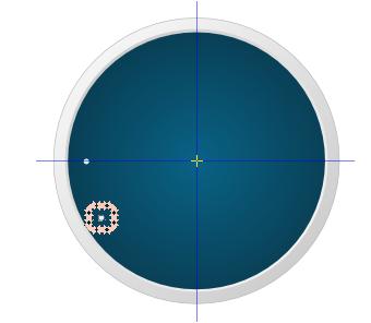 Circles representing hour marks