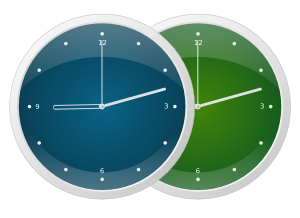 Examples of finished clock pictures