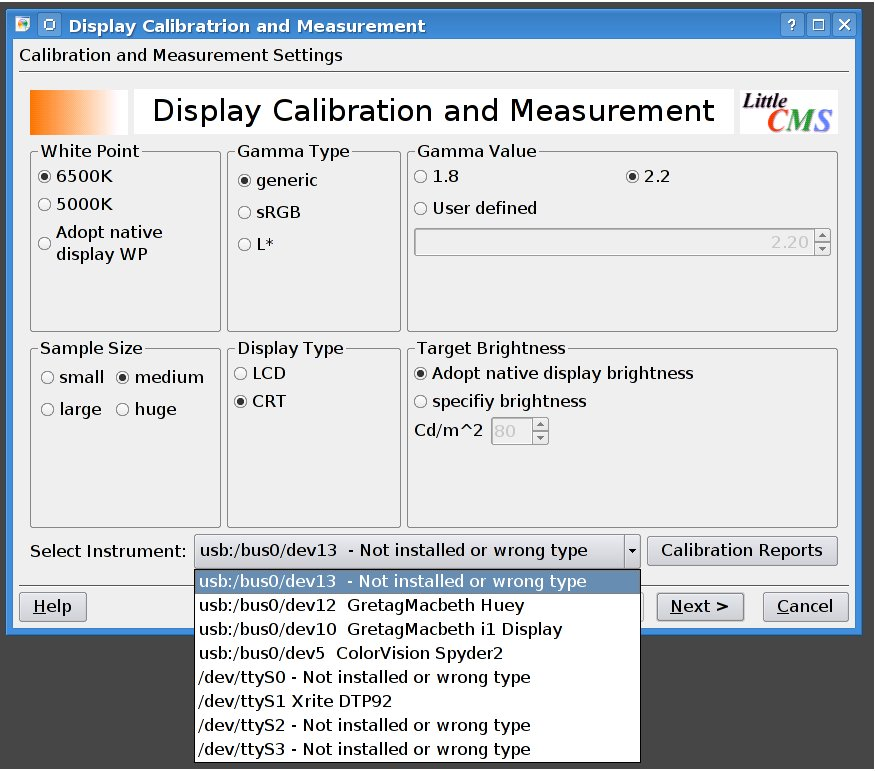 Display calibration wizard