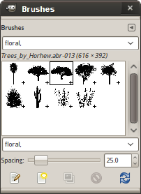 Filtering brushes using tags