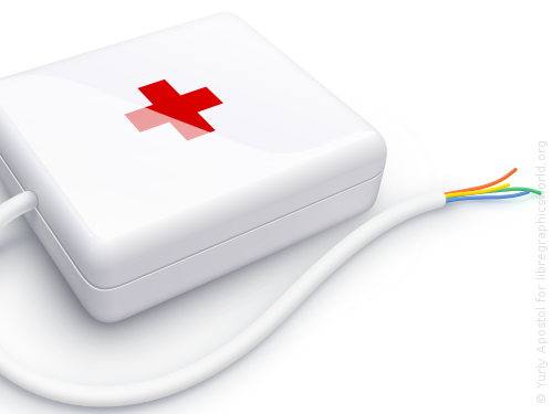How to draw a computer first-aid kit with Inkscape