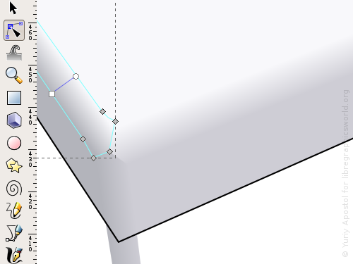 Creating another rounded corner using a gradient