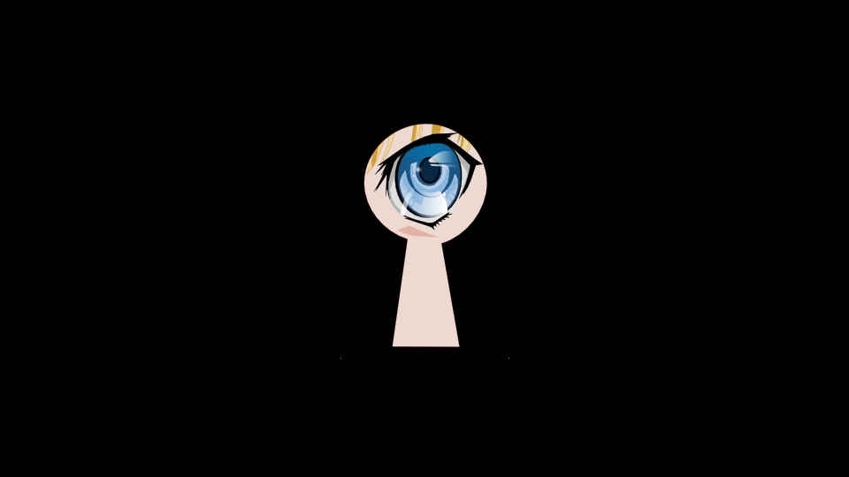 How to draw an eye in anime style with Inkscape