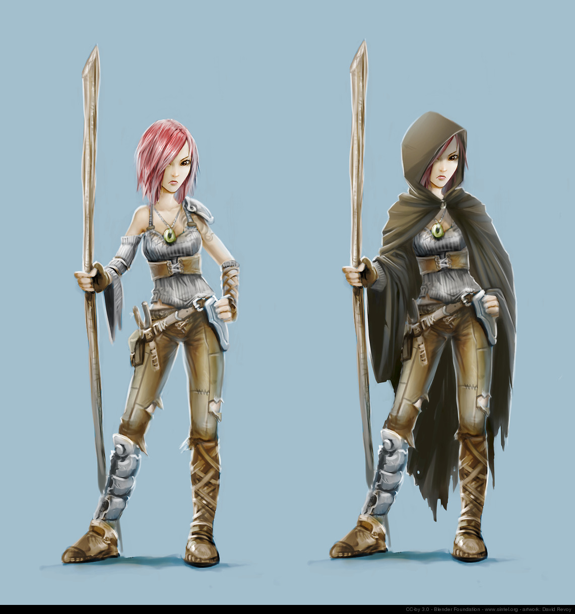 Final concept art for the Sintel character