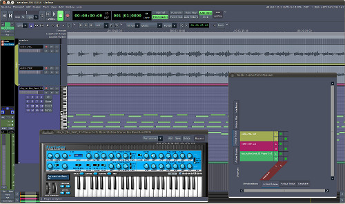 Ardour 3 in its glory: MIDI tracks, VSTi support, improved routing