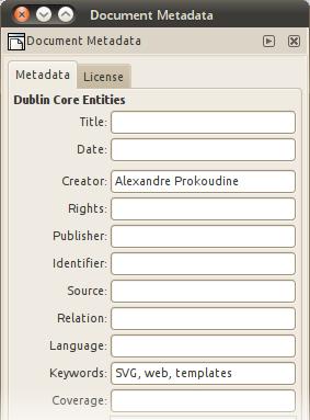 Metadata dialog