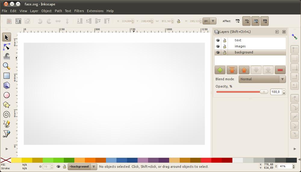GIMP screencast bg template