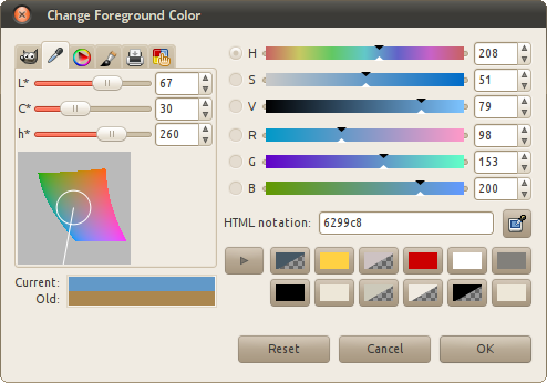 LCh color chooser
