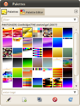 List of palettes