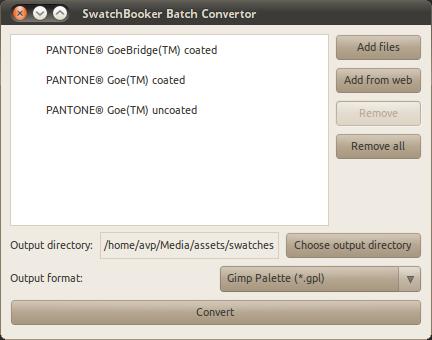 SwatchBooker Batch Convertor