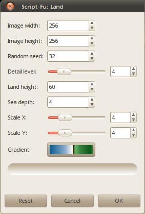 Script-Fu script to create land pattern