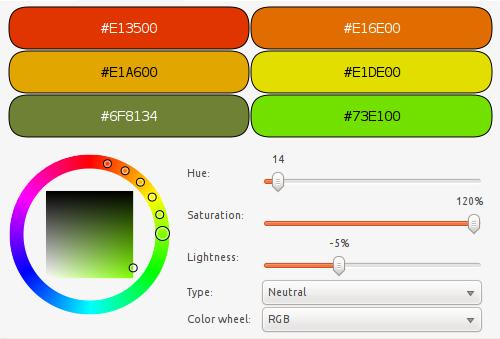 Color scheme widgets
