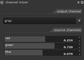 Color mixer in darktable