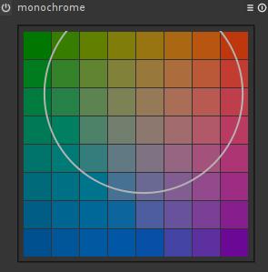 Monochrome in darktable