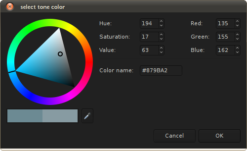 Tone color picker