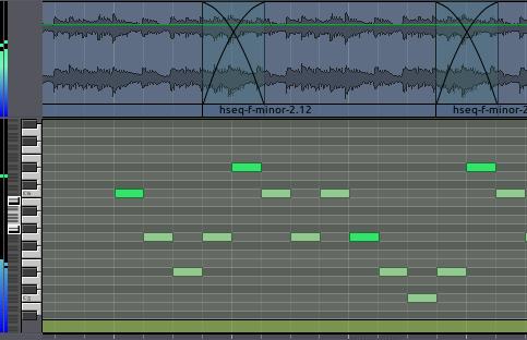Audio and MIDI tracks