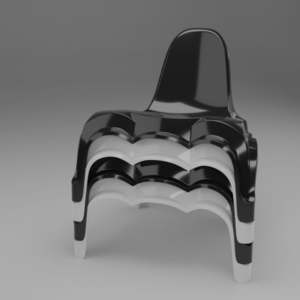Wybren van Keulen introduces Epoque, unique hand made chair designed in Blender