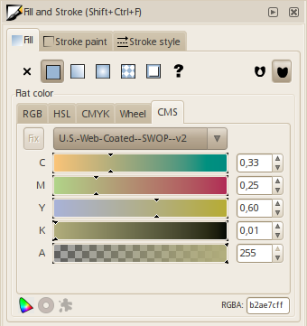 Color managed color selection