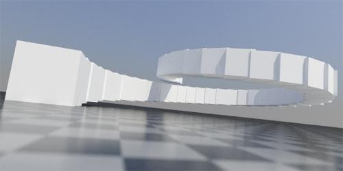 Example of generative art in arhitecture