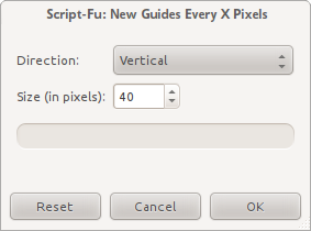 New Guides Every X Pixel dialog