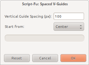Spaced V-Guides dialog