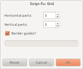 Grid of Guides dialog