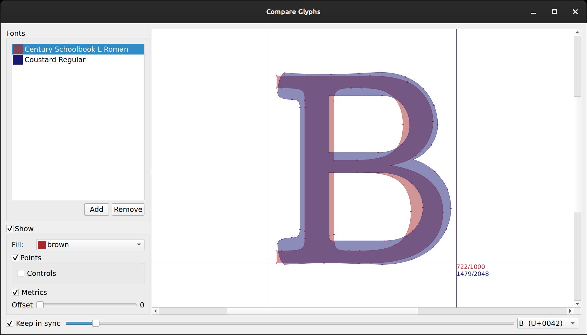Studying type design with Fontmatrix