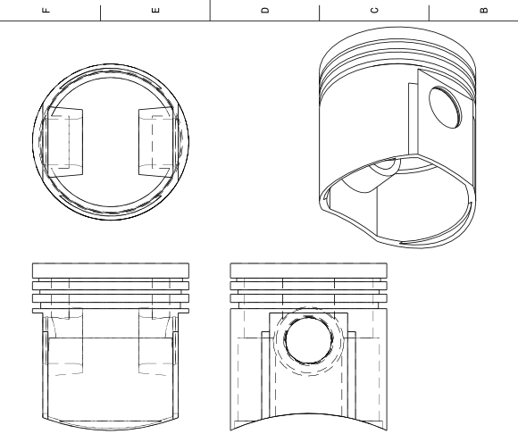 Blueprint view in FreeCAD