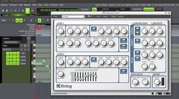 Loomer String synth in LV2 flavor