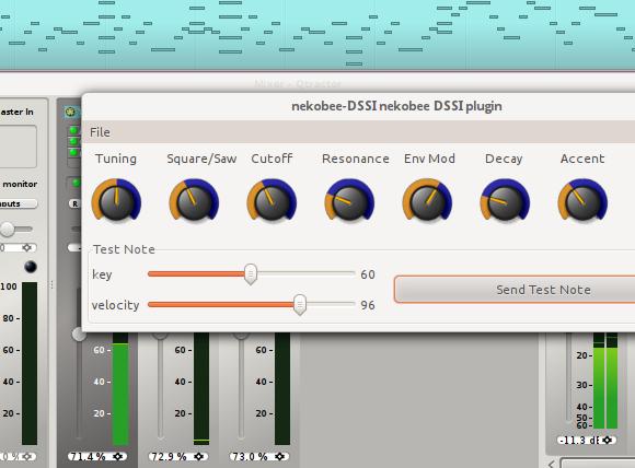 Nekobee DSSI synth