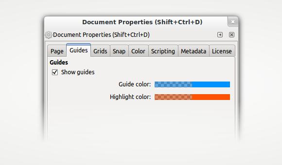 Guide colors setup