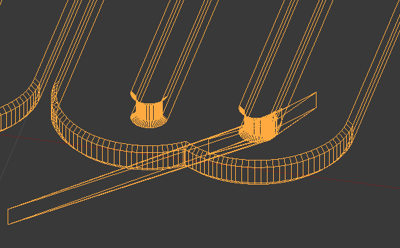 In wireframe mode