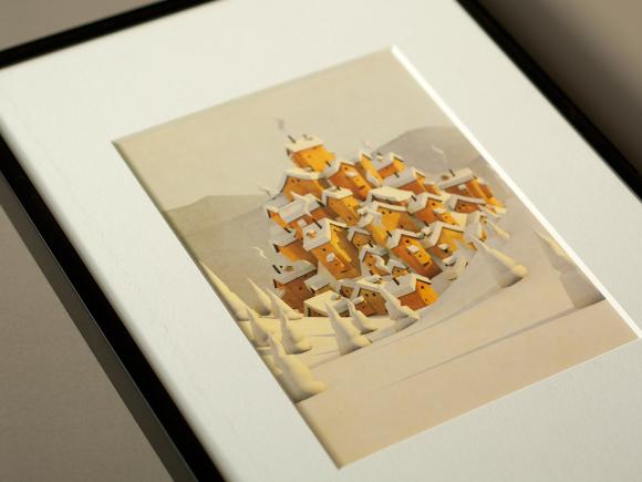 Cite Des Cretes framed