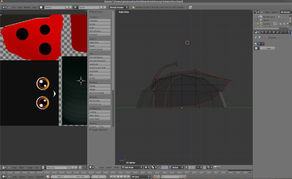 Creating a ladybug character with Blender