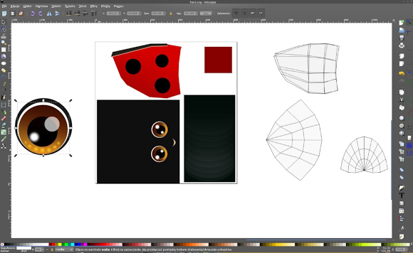 Creating a UV texture with Inkscape