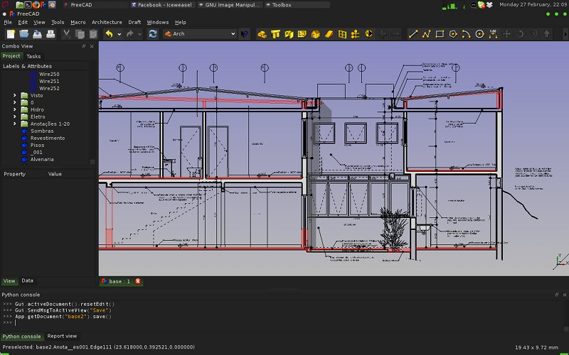 FreeCAD 0.13 released with better drafting, arch, and part design tools