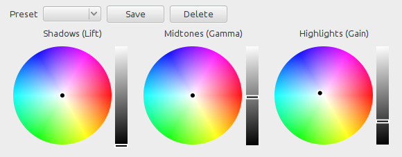 3-way color grading tool