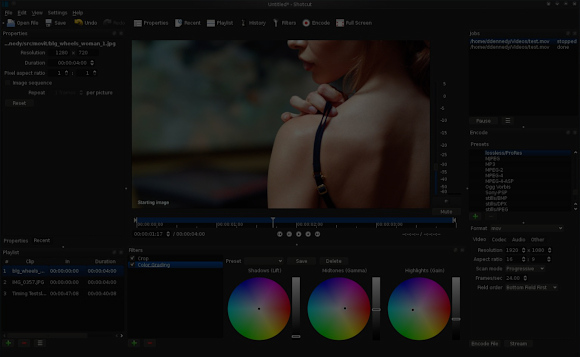 Shotcut gets hardware accelerated color grading