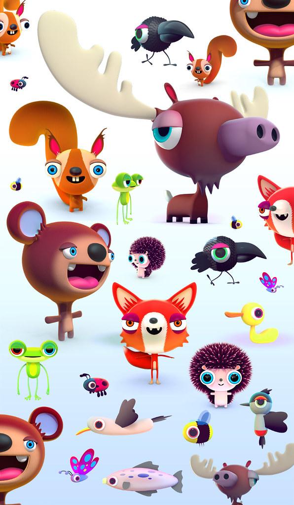 Sprett characters