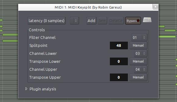 MIDI key split