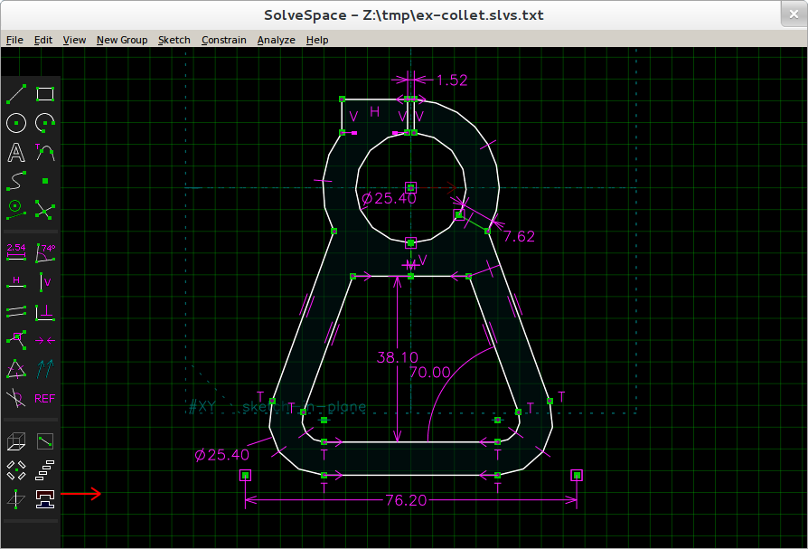 SolveSpace 2D/3D CAD software released under terms of GPL