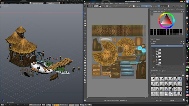 Painting textures with Krita
