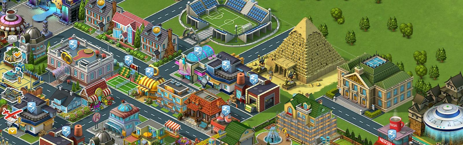 Playkot's SuperCity game graphics done with Blender, Krita, GIMP