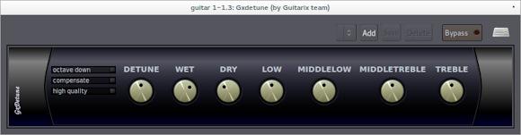 GxDetune octaver in Ardour 3