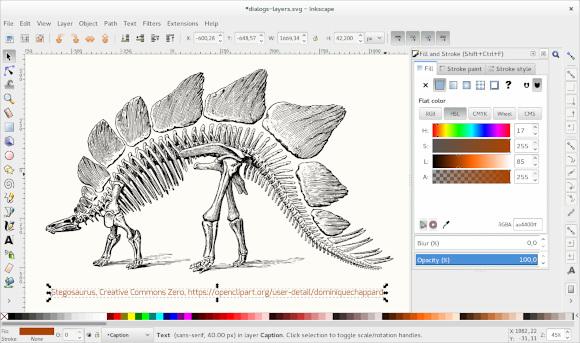 Open Clip Art illustration in Inkscape 0.91