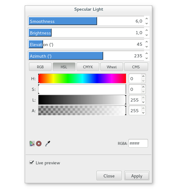 Specular Light extension in Inkscape 0.91