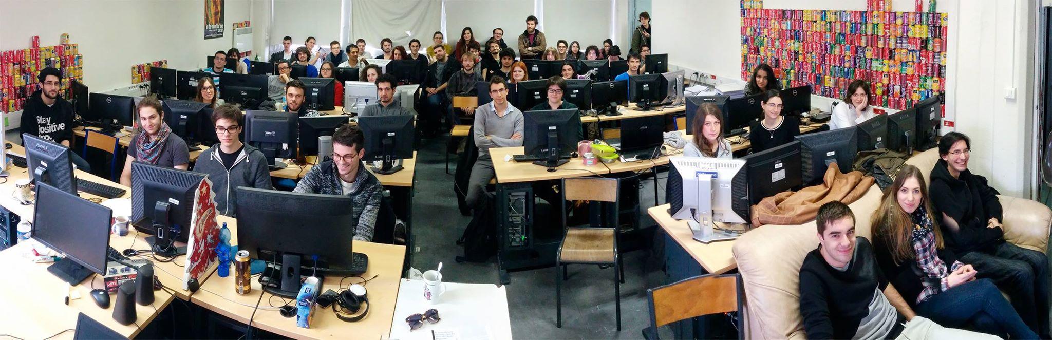 ATI students during the talk by David Revoy