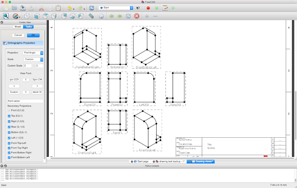 Isometric Projections in Drawing workbench