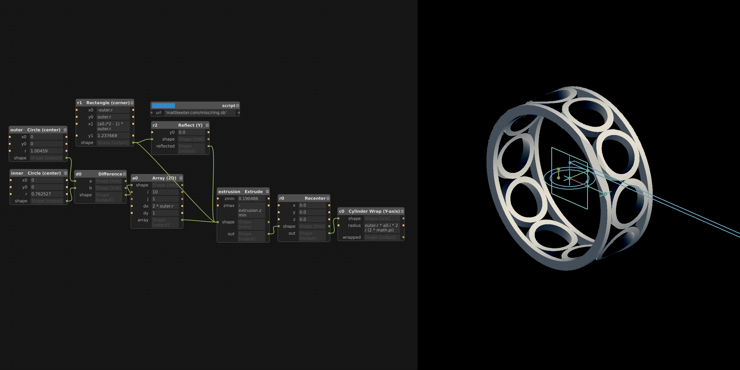 Introducing Antimony, free graph-based 3D CAD system