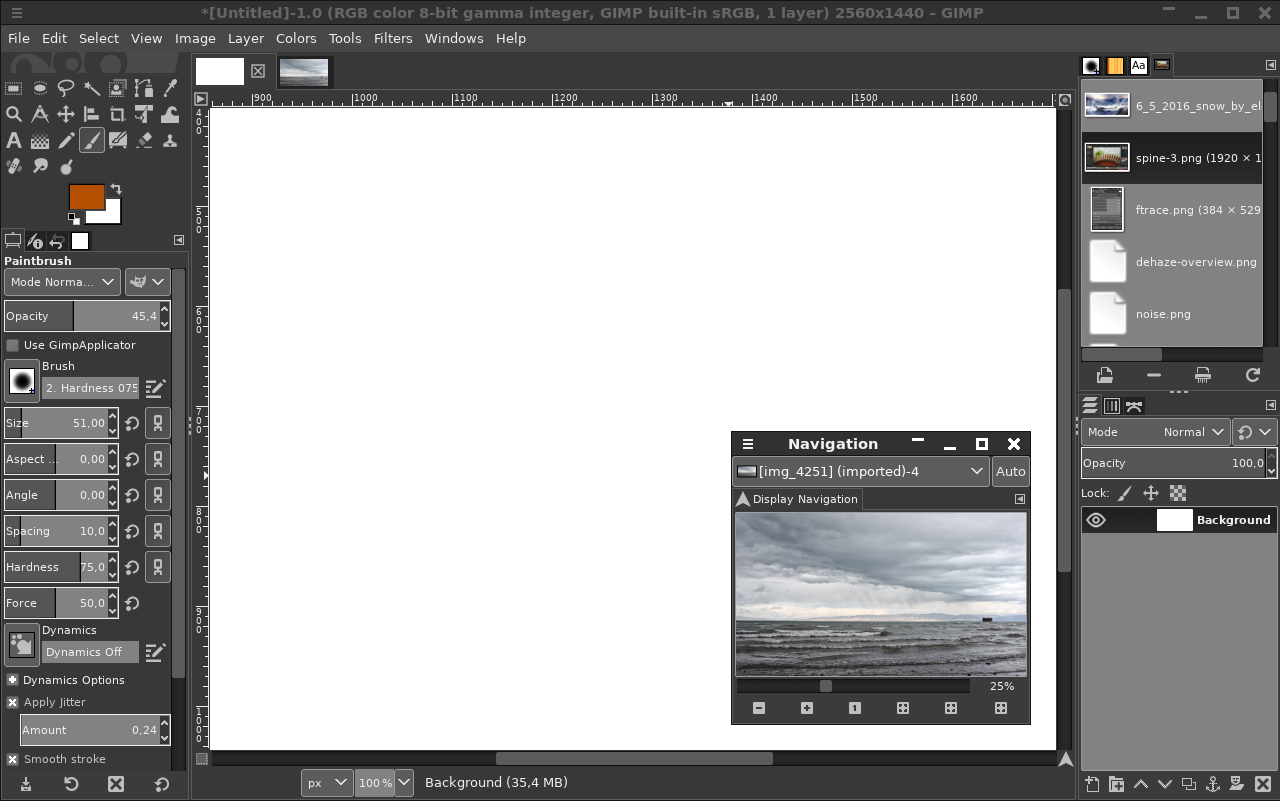 How to view reference images in GIMP